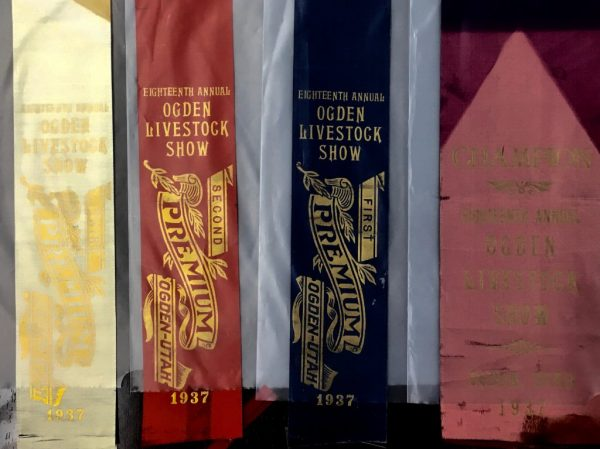 Eighteenth Annual Ogden Livestock Show ribbons - obtained from Weber State University Special Collections