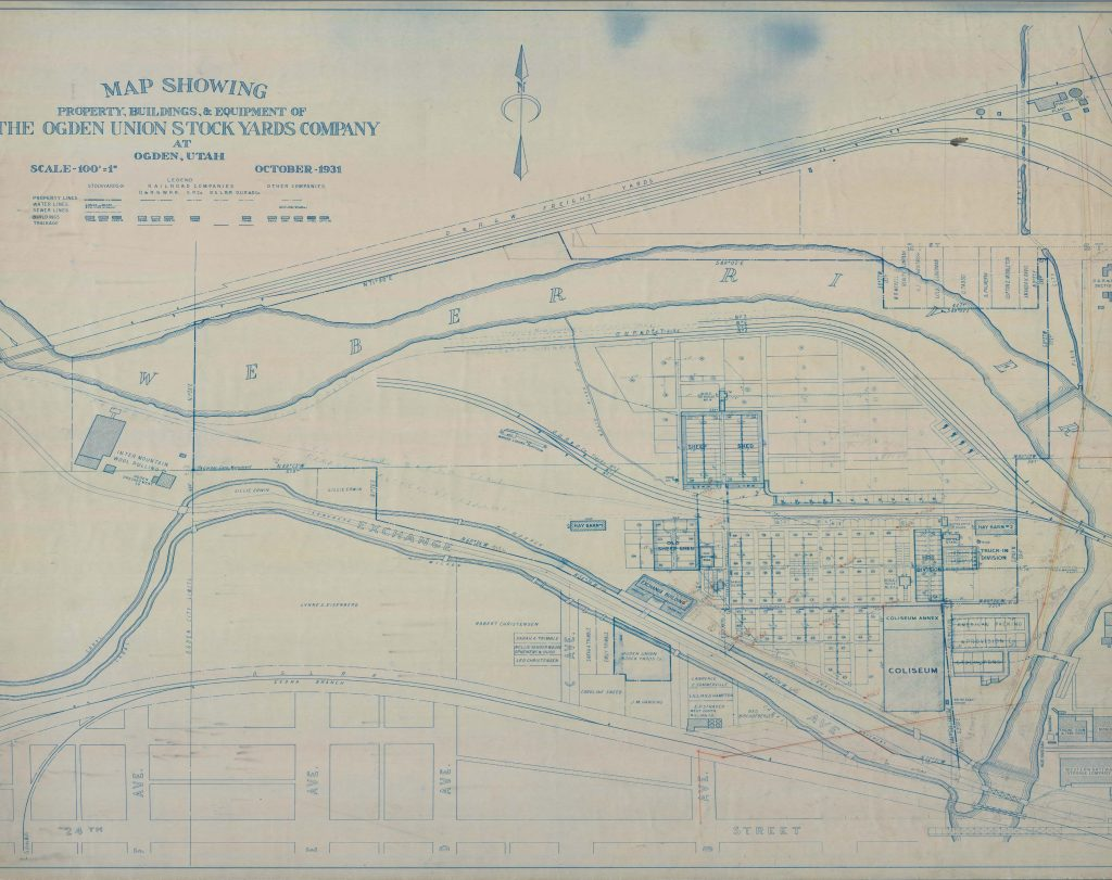 1931 site map from Special Collections Department, Stewart Library, Weber State University