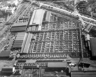 Ogden Union Stockyards aerial view 1945 Thank you to Don Strack for generously sharing this photo, part of his extensive gallery.