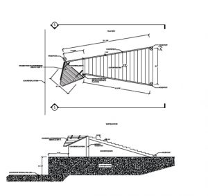 Drawing of the concrete ramps for loading/unloading livestock from rail cars. Image from the Historic American Landscapes Survey (HALS), compiled by IO Landscape Architects in Ogden.
